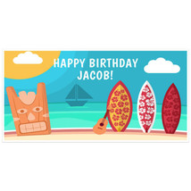 Hawaiian Surfing Birthday Banner Personalized P... - $22.50