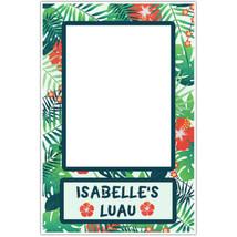 Hawaiian Luau Flowers Selfie Frame Photo Booth Social Media Prop Poster - $16.34+