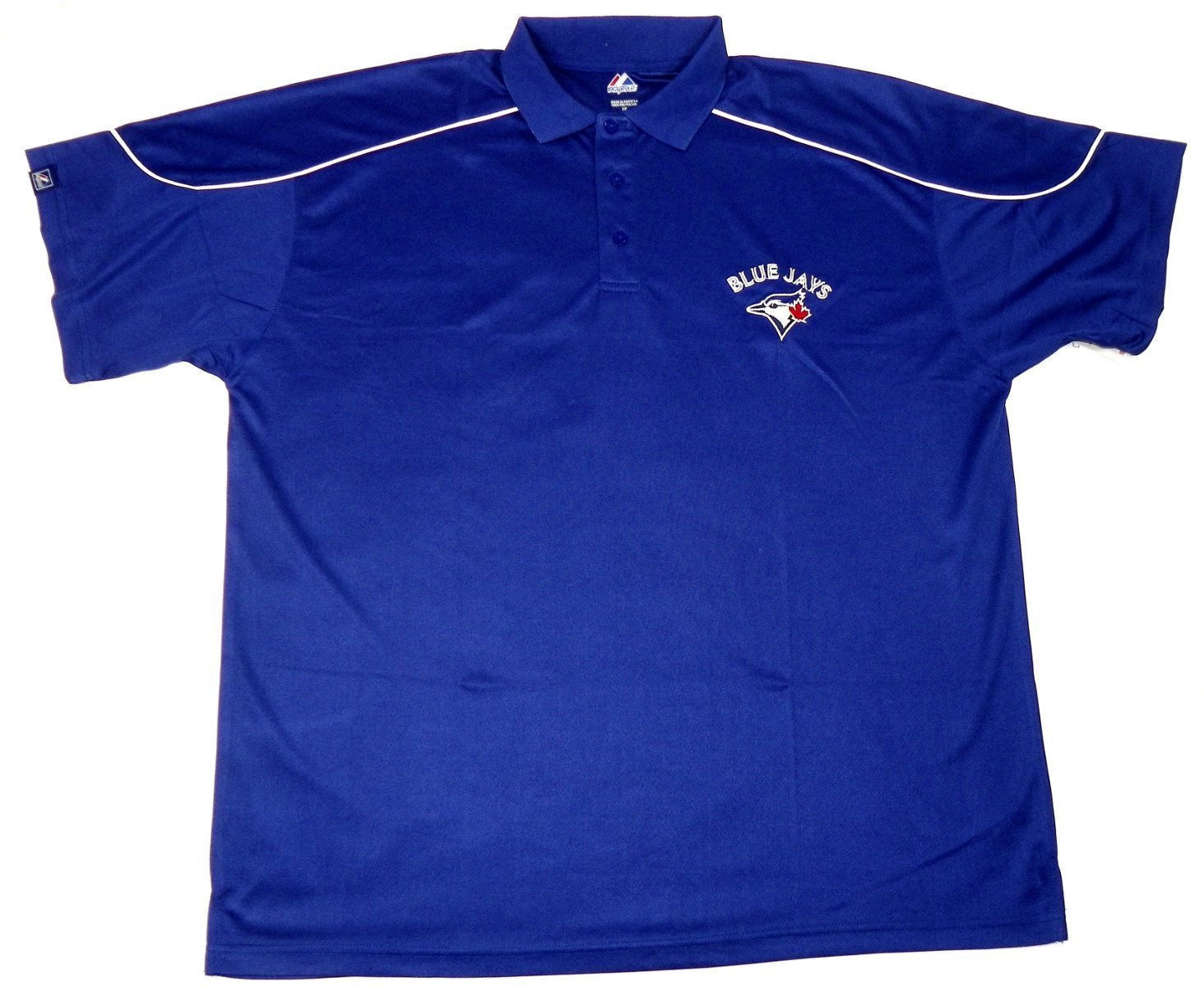 5XL Toronto Blue Jays Polo Men's MLB Rundown Baseball Shirt Big Majestic