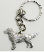 Golden Retriever Dog Keychain Keyring Harris Pewter Made USA Key Chain Ring - $9.48