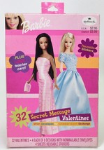 HALLMARK BARBIE VALENTINE CARDS 32 SECRET MESSAGE VALENTINES WITH ENVELO... - $7.88