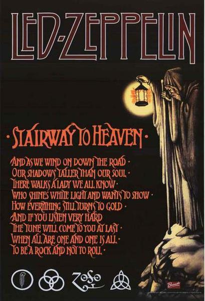 Stairway led zeppelin poster 24 x 36 inches