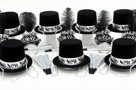 Silver Glitz New Years Party Kit for 50 Guests - $86.13