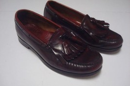 7dd507ba5 GH Bass Mens Burgundy Tassled Loafers Weejuns Sz 8D Leather Slip On Mo.