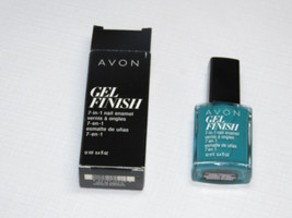 Avon Gel Finish 7-in-1 Nail Enamel Teal 12 ml 0.4 fl oz nail polish mani pedi;; - $22.76