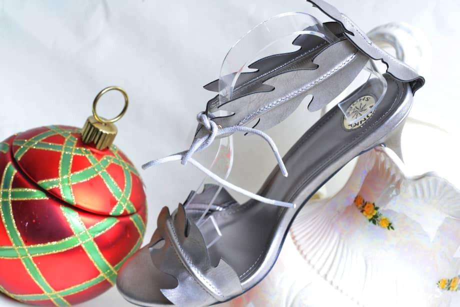 Silver Leaf Design Sandal