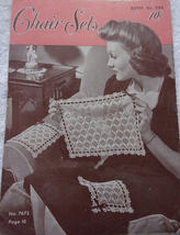 Book 206 Chair Sets  The Spool Cotton Company 1944 - $3.99