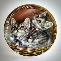 Baskets of Love Vintage Plate Bradford Exchange Andrew Abby Cats Alexei Isakov - $29.65