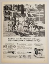 1963 Print Ad Western Flyer Bicycles Boy & Girl Ride Bikes Western Auto Stores - $14.83