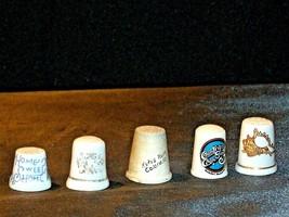 Ceramic Thimbles of unique designs AB 273b Vintage
