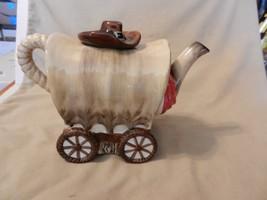 Old West Covered Wagon Ceramic Tea Pot, from Burton & Burton (M) - $55.43