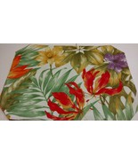 6 Gorgeous Tropical Table Placemats Bold Colorful 13x18 Double Sided Excellent - $12.19