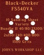 Black+Decker FS540VA - 40/80/100/150/240/400/800/1500 - 10pc Variety Bun... - $12.46