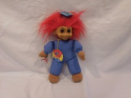 """Troll Doll Russ 10""""  Tassel Hat Cap Red Hair With Tag and Degree vintage - $13.02"""