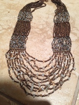 """dramatic beaded necklace 27"""" - $29.99"""