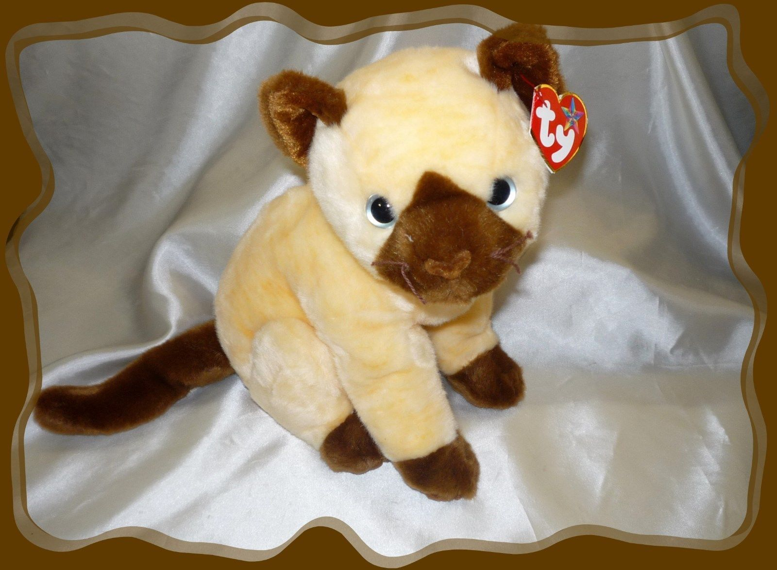 ac303af4255 Ty Buddies Plush Siam Yellow Brown Cat With and 50 similar items