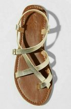Universal Thread Women's Gold Lavinia Toe Wrap Thong Summer Sandal NEW image 3