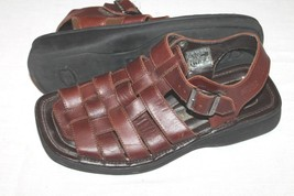 VTG Skechers Mens Fisherman Sandals Brown Leather Size 8  90'S - $8.91