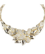 Ladies 14K Yellow Gold Fin Lab Diamond Stampato... - $98.99