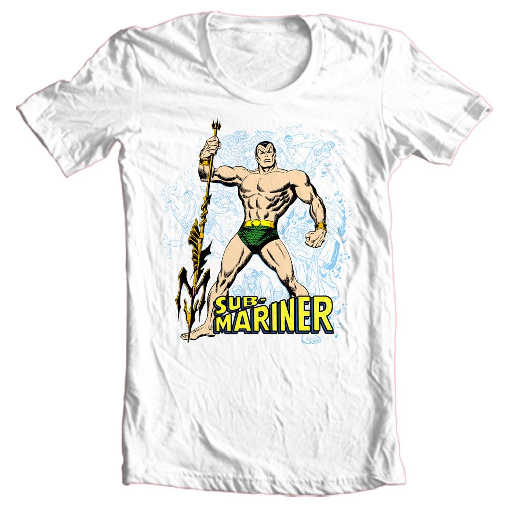 Sub mariner t shirt retro superhero comic book 100 cotton for Retro superhero t shirts