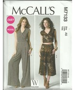 M7133 Misses Crop Top, Culottes and Jumpsuit Sizes 14-22 McCalls Sewing ... - $5.89