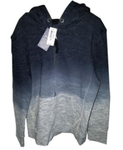 RUUM Black Grey Dyed Zip Front Unisex Hoodie Size Small - NWT $44.50 - $16.83