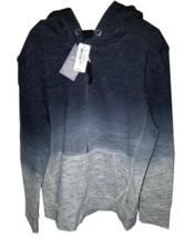 RUUM Black Grey Dyed Zip Front Unisex Hoodie Size Medium - NWT $44.50 - $16.83
