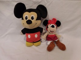 "Disney 11"" TALKING Mickey Mouse Stuffed Plush Doll Toy + Minnie Mouse We... - $19.02"