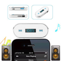 White Audio Plug Car MP3 FM Transmitter for iPhone6S 6Plus 5S iPod touch... - $7.96