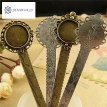 DIY Craft Flower Design Bookmark with Ruler Fit Inner 20mm Cabochon Base... - $6.00
