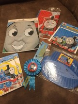 Thomas the Train Table Cover Party Game Hats Badge 35 Pcs Party supplies - ₨2,419.44 INR