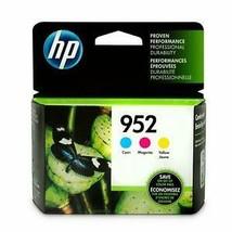 Brand New Genuine Original HP 952 Cyan, Magenta and Yellow Ink Cartridges Nov21 - $52.24