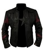 Men's Captain America Avengers Infinity War Chris Evans Black Leather Jacket - $89.99
