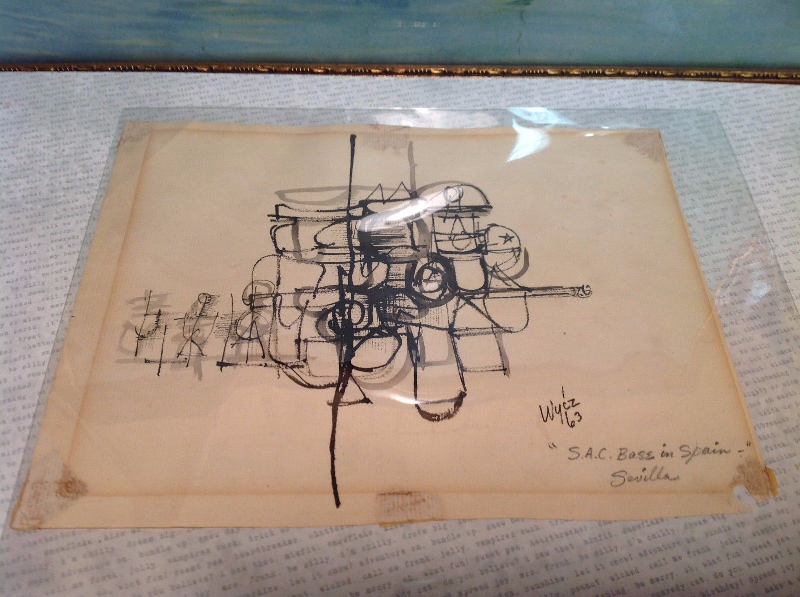 Abstract Military Art by Wycz circa 1963