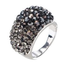 JASSY Luxury Platinum Classic Black Diamond Engagement Ring Statement Wo... - $33.30