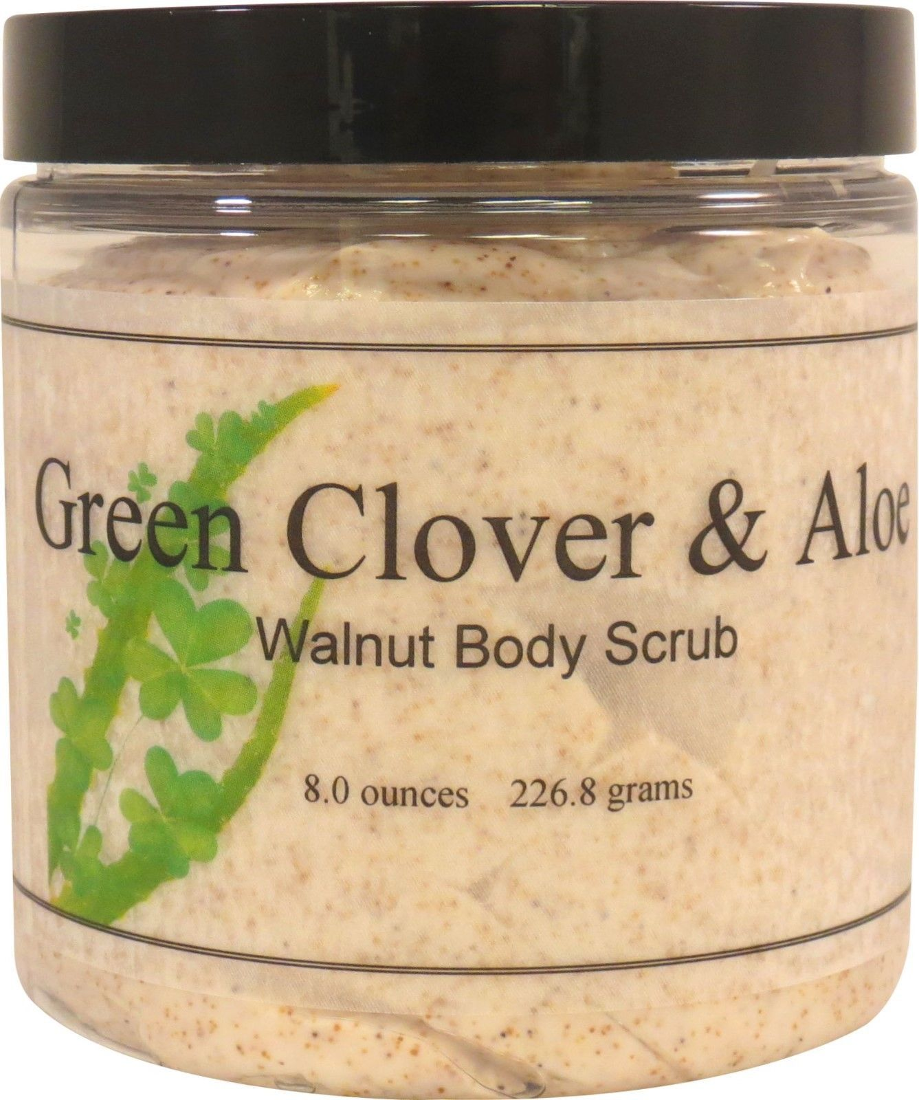 Green Clover and Aloe Walnut Body Scrub
