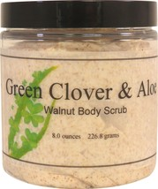 Green Clover and Aloe Walnut Body Scrub - $18.42+