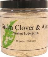 Green Clover and Aloe Walnut Body Scrub - $18.42+