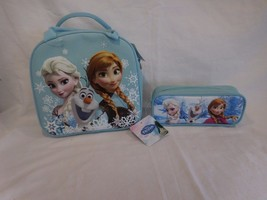DISNEY'S FROZEN  LUNCH BOX & PENCIL or Make Up Cosmetic Pochette CASE SE... - $28.02