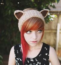 Handmade Knit Crochet Neko Cat Kitty Ears Headband Ear Warm Women Girl Headband - $3.99