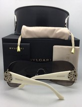 New BVLGARI Sunglasses 8142-B 5268/13 Tortoise Frame w/ Crystals & Brown Fade - $299.95