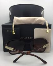 New BVLGARI Sunglasses 8140-B 501/8G 56-18 Black Frame w/ Crystals & Grey Fade
