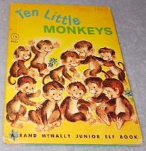 Ten Little Monkeys Rand McNally Junior Elf Counting Book Katherine Phillips - $6.00