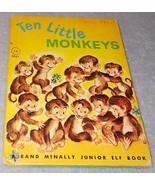 Ten Little Monkeys Rand McNally Junior Elf Coun... - $5.95