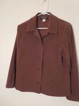 Briggs Women's Petite Size SP Brown Blazer Button Down Excellent Conditi... - $0.98