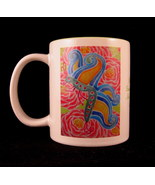 Rainbow Butterfly Mug Ceramic Original Campbell Studio Design and Art by... - $35.63