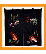 embroidered entrance noren panels sushi curtains doorway valance kitchen... - $32.00