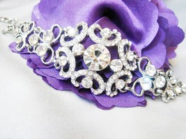 Old Hollywood Vintage Lace Cuff Bracelet - Brid... - $39.00
