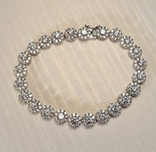 Gorgeous Bridal Platinum Plated CZ Tennis Bracelet  - $29.99