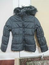 BNWT London Fog® Girls' puffer Jacket with Fur Hood, grey, M(10-12), MSR... - $56.10